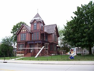 Herman C. Timm House - H. C. Timm House during 2006 reconstruction
