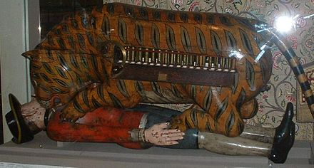 Tipu Sultan's Tiger. Victoria and Albert Museum, London Tipu Sultan's Tiger.JPG