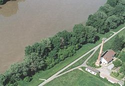 Aerial photo from Tiszabercel