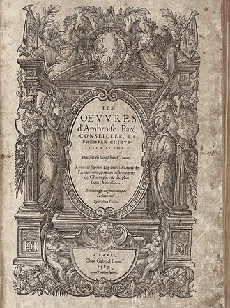 Ambroise Paré - The title page of Ambroise Paré's Oeuvres.