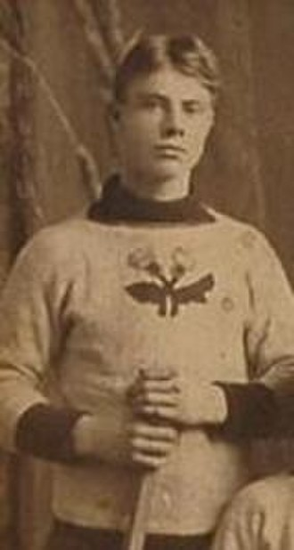 Tom Hooper (ice hockey) - Hooper with the Rat Portage Thistles around 1900.