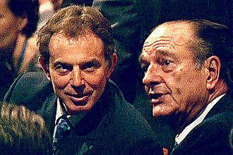 History of the Common Security and Defence Policy - British Prime Minister Blair and French President Chirac, who signed the 1998 St. Malo declaration, which paved the way for an autonomous EU defence arm