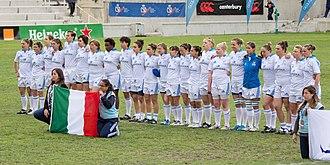 Italy women's national rugby union team - Image: Torneo de clasificación WRWC 2014 Nazionale di rugby a 15 dell'Italia 01