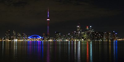 Toronto Night Skyline from Center Island.jpg