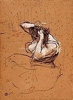 Toulouse-Lautrec - FEMME QUI SE PEIGNE, 1896, MTL.191.jpg