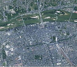 Vue aérienne de Tours.