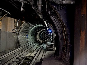 Transbay Tube - View into the Transbay Tube