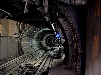 Transbay Tube - View into the Transbay Tube