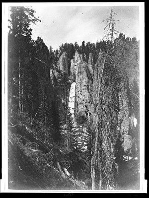 Tower Fall - Image: Tower Falls Jackson 1871