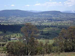 Boonah, Queensland - Mount French, Dugandan and the town of Boonah, 2016