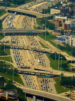 Traffic in Chicago, USA.