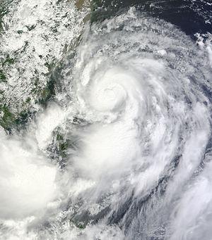 Tropical Storm Trami (2013) - Image: Trami Aug 21 2013 0240Z