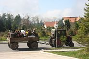 Transport by tractor in North Korea