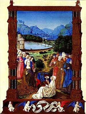True Cross - The proving of the True Cross, Jean Colombe in the Très Riches Heures