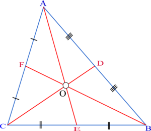 Median (geometry) - Image: Triangle.Centroid.Me dian