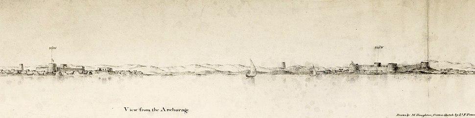 Al Bidda: View from the bay, 1823