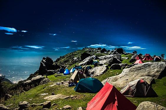 Triund hill campsite