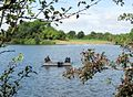Trout Fishing from a boat on Tringford Reservoir, Tring - geograph.org.uk - 1417928.jpg