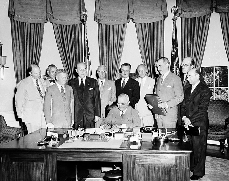 File:Truman signing North Atlantic Treaty.jpg