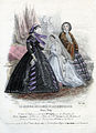 Tryck. Modebild från Le Journal des dames et des demoiselles mars 1861. Klänningar, brudklänning - Nordiska Museet - NMA.0052106.jpg