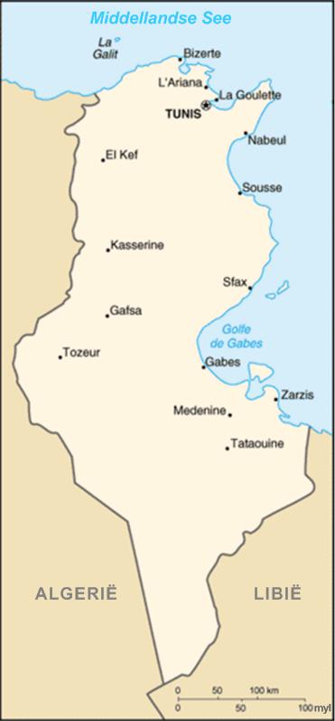 Tunisiekaart