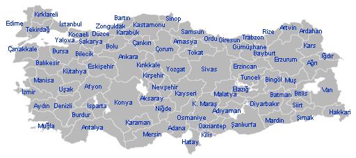 Turkiako probintziak