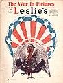 Turkey in patriotic American garb (Leslie's cover, November 23 1918).jpg