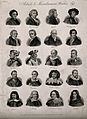 Twenty portraits of famous men. Engraving by J.W. Cook, 1825 Wellcome V0006813.jpg