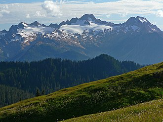 Mount Baker Wilderness - Twin Sisters Mountain from Grouse Ridge