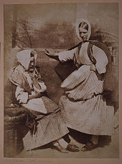 Two Newhaven fishwives, perhaps Mrs Elizabeth (Johnstone) Hall on the right.jpg