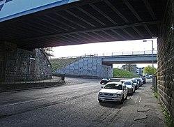 Two bridges over Saughton Road (geograph 2356892).jpg