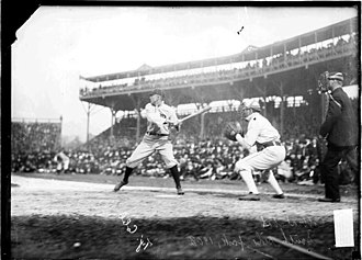 South Side Park - Ty Cobb at bat in 1908 at South Side Park