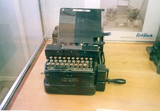Typex - Typex Mk III was a portable version powered by a handle.