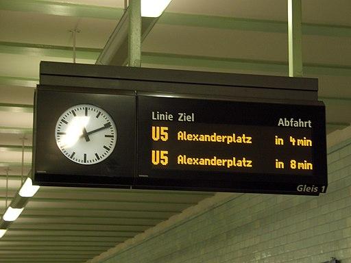 U-Bahn Berlin Anzeiger