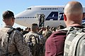 U.S. Service members at Fort Worth, Texas, board an airplane bound for Agadir, Morocco, April 5, 2012, in support of African Lion 2012 120405-A-JC300-112.jpg