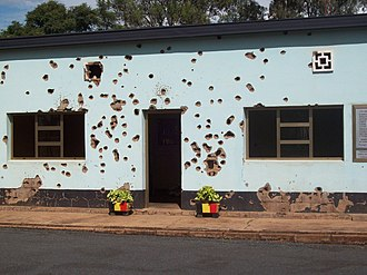 2nd Commando Battalion (Belgium) - Site of the massacre in Kigali, Rwanda.
