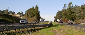 Cotati, California - The Cotati Grade on U.S. Route 101