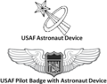 Astronaut Badge (Any Aeronautical Rating Badge with Astronaut Device)
