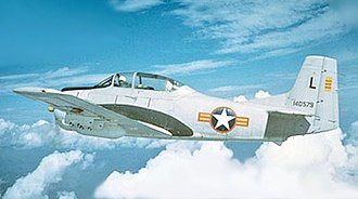 South Vietnam Air Force - A T-28 in flight