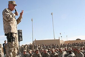 James T. Conway - Conway talks to his Marines, September 2005