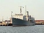 USNS Tanner (T-AGS-40) at Norfolk VA in 1991.jpeg
