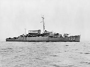 USS Balduck (APD-132) off the San Francisco Naval Shipyard on 23 March 1954 (7575343)