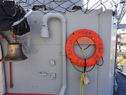 USS Cassin Young bell and lifebuoy