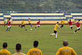 USS Comstock Sailors, 11th MEU Marines play soccer with Royal Malaysian Navy 150127-N-CU914-425.jpg