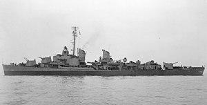 USS John W. Thomason (DD-760) off San Francisco on 19 October 1945 (19-N-90577)