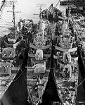 USS Mansfield (DD-728), USS Mertz (DD-691) and USS Remey (DD-688) at the Mare Island Naval Shipyard on 29 November 1945.jpg