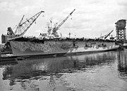 USS Takanis Bay (CVE-89) during inactivation at the Puget Sound Naval Shipyard, 23 May 1946 (871-46)