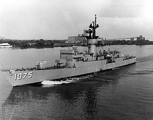 USS Trippe (FF-1075) off New Orleans