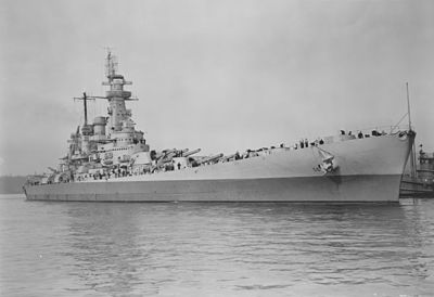 USS Washington collision damage repaired NARA BS 63999.jpg