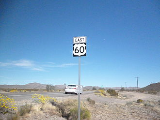 U.S. Route 60 in Arizona - US 60 Marker